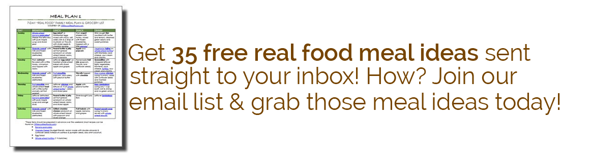 Email List / Meal Plans