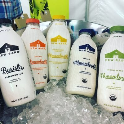 6 New Real Food Snacks Hitting Shelves Soon - New Barn Almond Milk - on 100 Days of Real Food