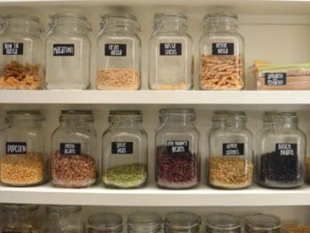 Big Pantry Redo on 100 Days of Real Food
