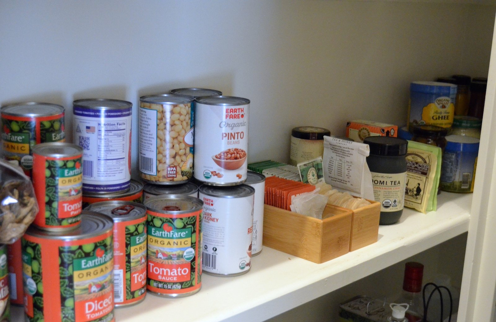 "Big Pantry Redo ""After"" canned food on 100 Days of Real Food"