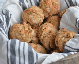 Sprouted Wheat Cheddar and Chive Scones
