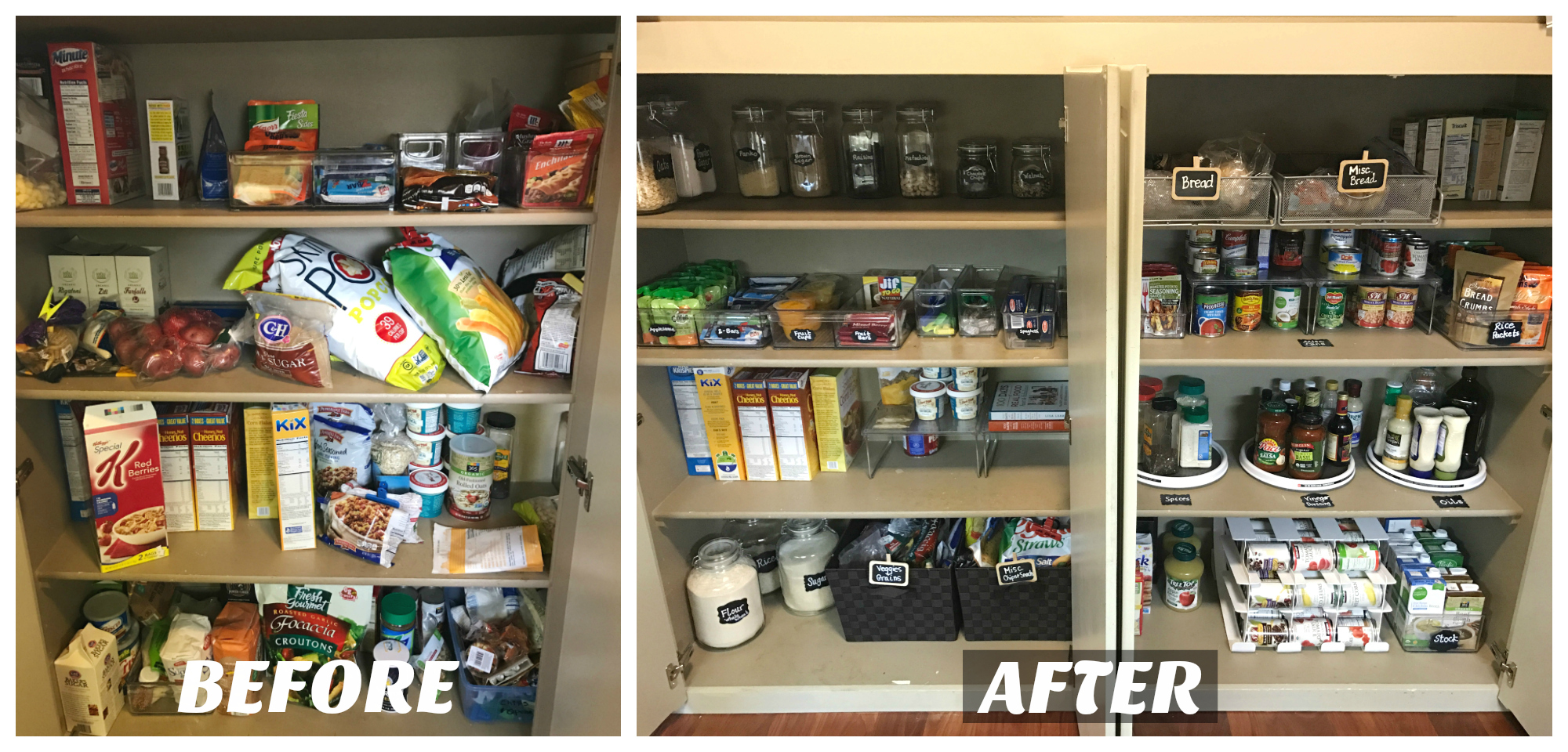 Pantry Makeover Inspiration on 100 Days of Real Food