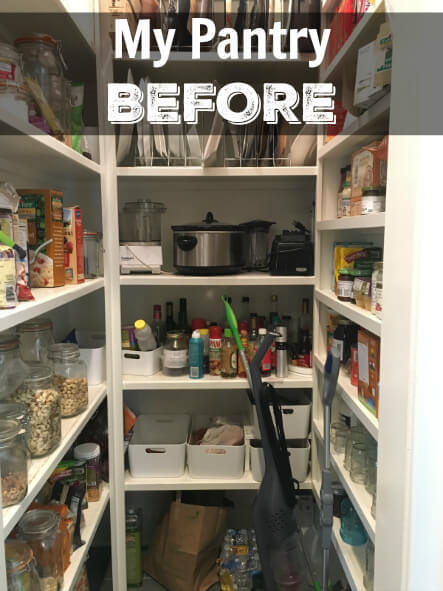 My BEFORE Pantry on 100 Days of Real Food