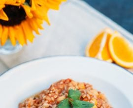 chickpea and farro stew