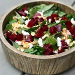 Roasted Beet and Almond Salad on 100 Days of Real Food