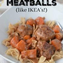 Swedish Meatballs on 100 Days of Real Food 210x210 - Swedish Meatballs (like IKEA's!)