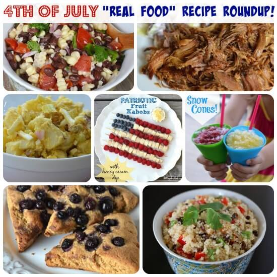 4th of July Real Food Recipe Roundup on 100 Days of Real Food