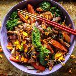 Chicken Nectarine Stir-Fry