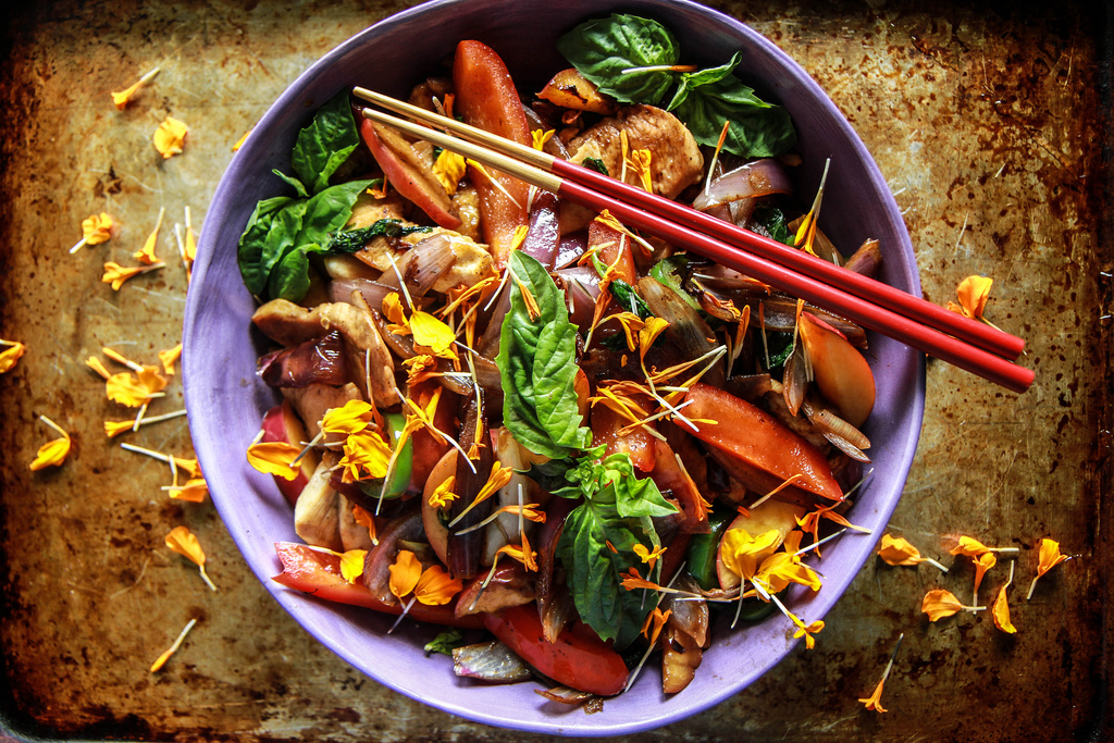 Chicken Nectarine Stir Fry from Heather Christo (+ how food sensitivities were making us sick) on 100 Days of Real Food