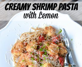 Creamy Shrimp Pasta with Lemon