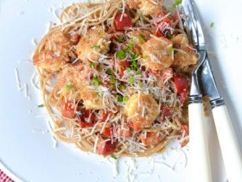 Creamy Shrimp Pasta with Lemon
