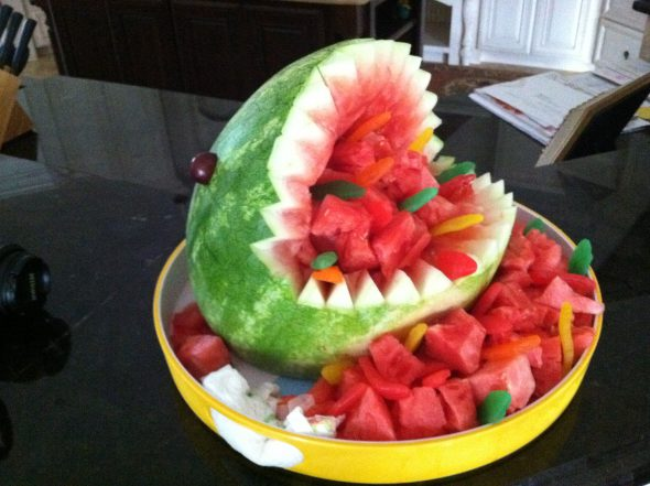 Mexican Watermelon Salad (+ fun facts about watermelon) on 100 Days of Real Food