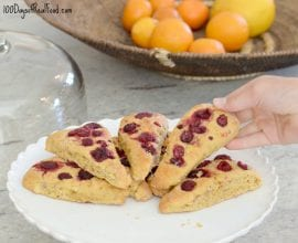 Raspberry Almond Scones on 100 Days of Real Food