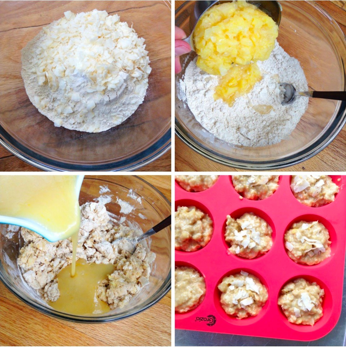 Pineapple Coconut Muffins from Super Healthy Kids on 100 Days of Real Food