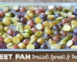 Sheet Pan Brussels Sprouts and Potatoes