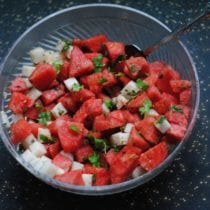 Mexican Watermelon Salad (+ fun facts about watermelon) 1