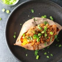 Lentil Sloppy Joe Stuffed Sweet Potatoes (+ how to save money while eating well) 1