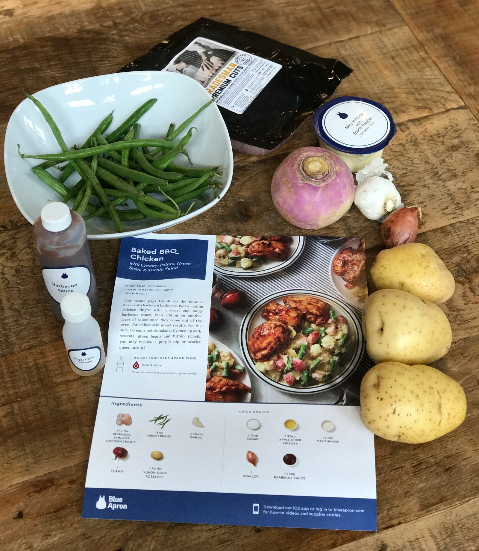 Blue Apron Meal Delivery Service on 100 Days of Real Food