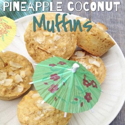Pineapple Coconut Muffins from Super Healthy Kids
