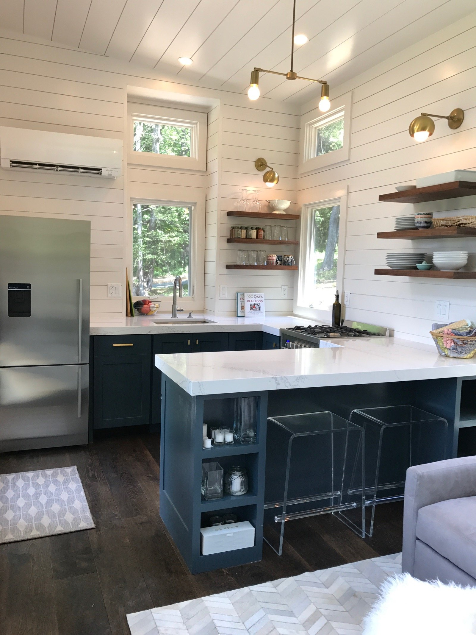 tiny house kitchen design what s in our new tiny house kitchen 100 days of real food 6253