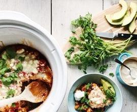 Slow Cooker Enchiladas on 100 Days of Real Food