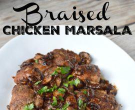 Braised Chicken Marsala on 100 Days of Real Food