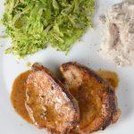 Creamy Braised Pork Chops on 100 Days of Real Food