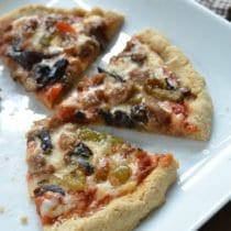 Sausage, Bell Pepper & Mushroom Pizza 1