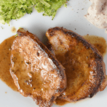 Creamy Braised Pork Chops (or Chicken)