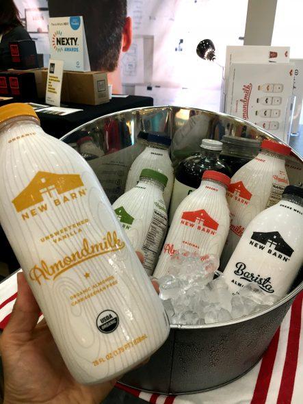 New Barn Milk in glass jars