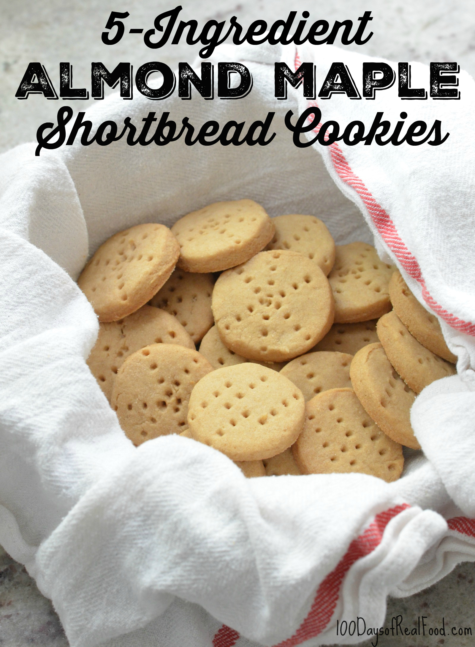 5-Ingredient Almond Maple Shortbread Cookies