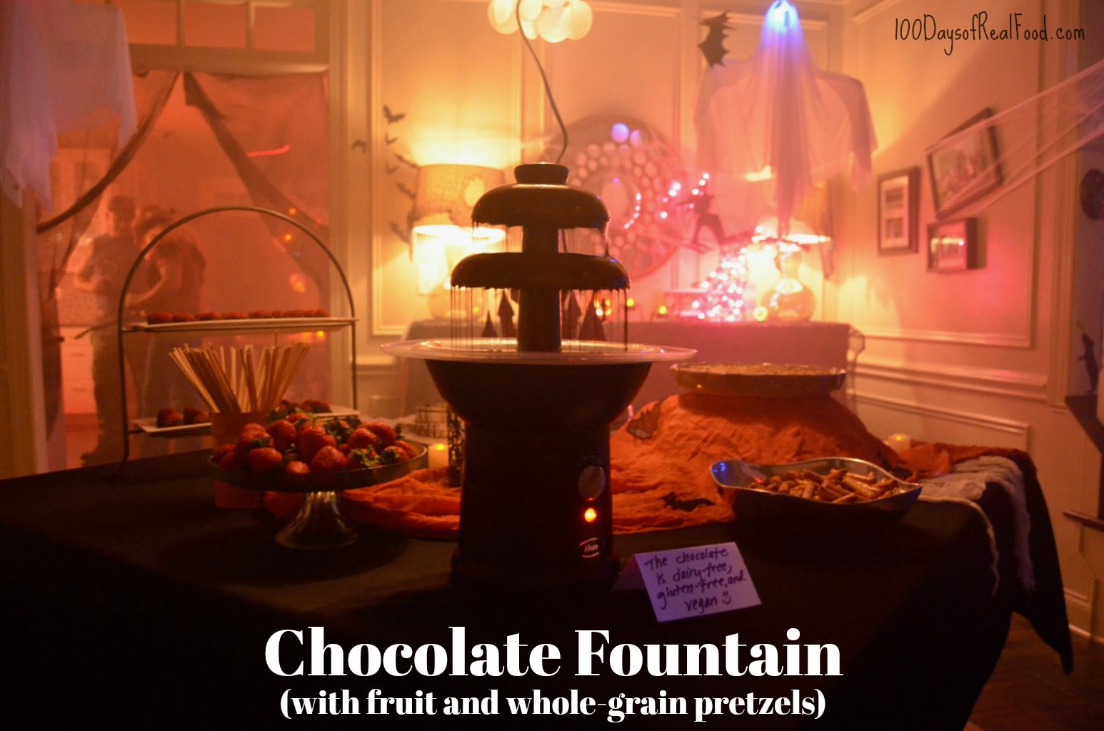 Chocolate fountain halloween party