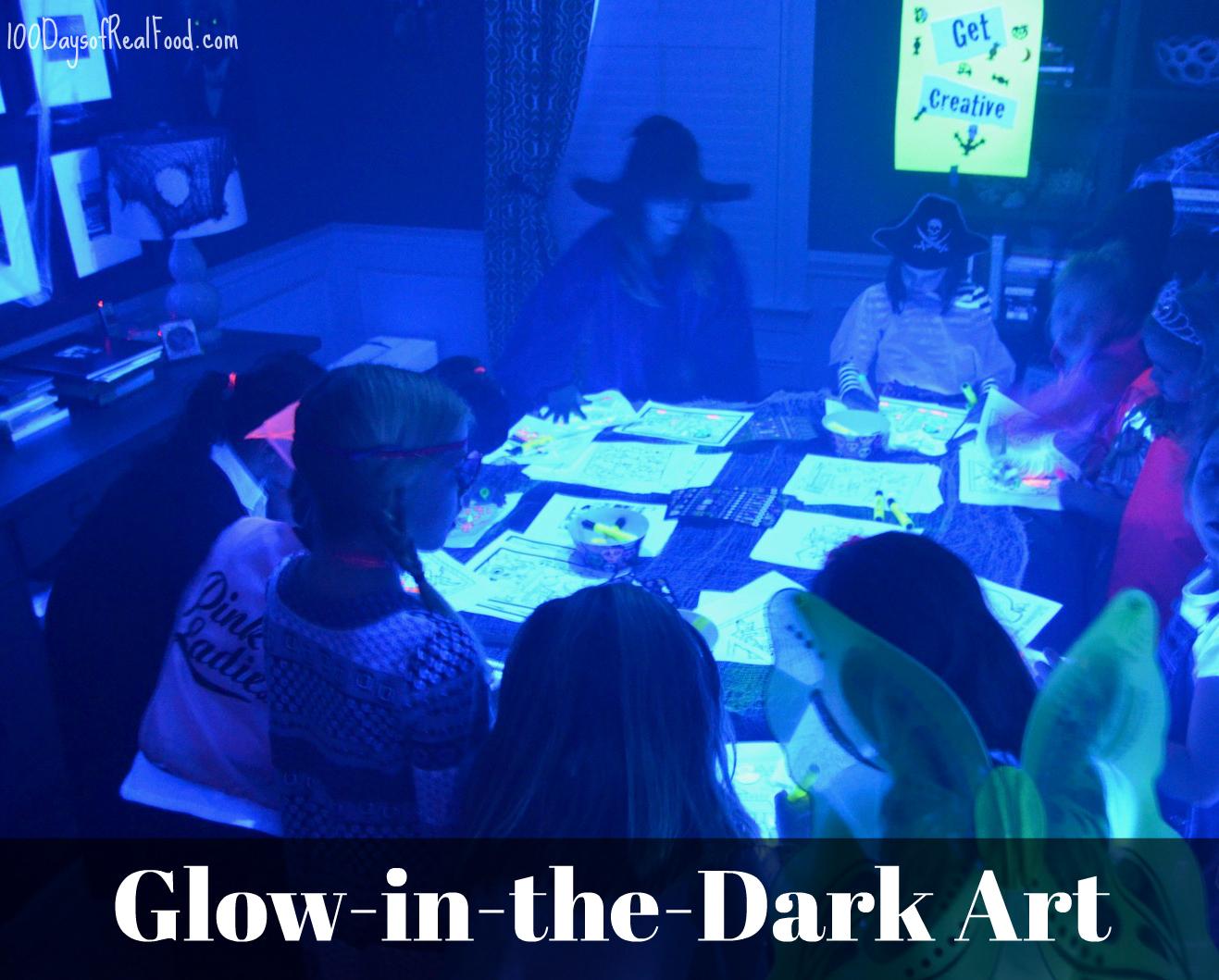 Glow in the dark art