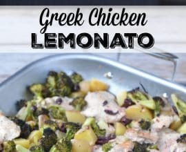 Greek Chicken Lemonato on 100 Days of Real Food