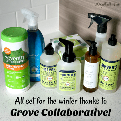 Minimize Germs this Winter with Non-Toxic Products on 100 Days of Real Food