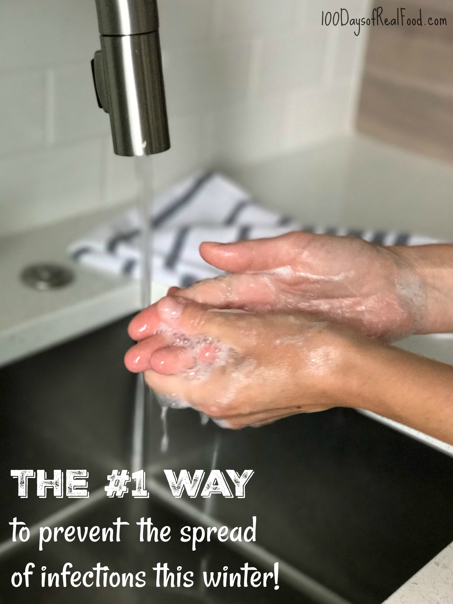 Minimize germs by washing hands with non-toxic soap
