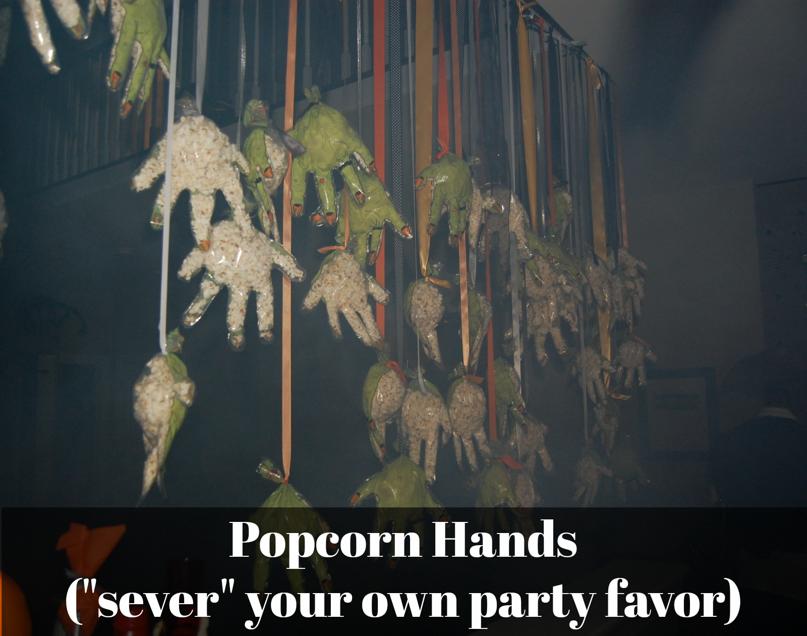 Popcorn Hands hanging from ceiling