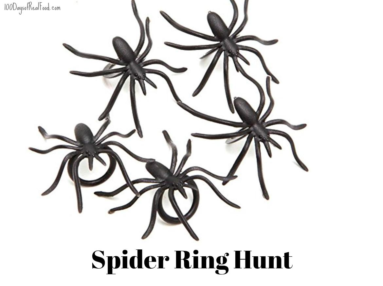 black spider rings