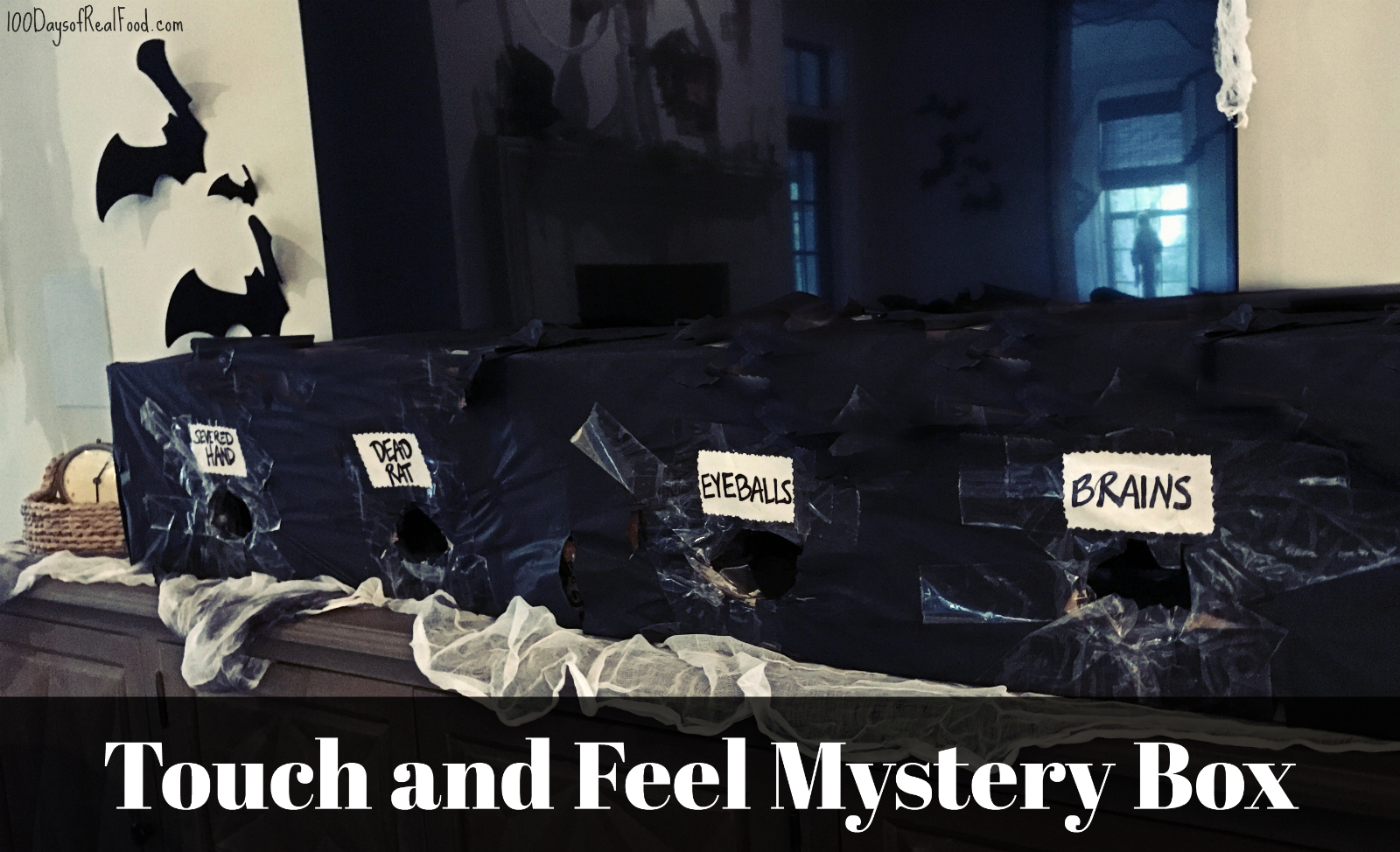 touch and feel mystery boxes halloween party