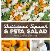 Easy Butternut Squash Salad with Feta