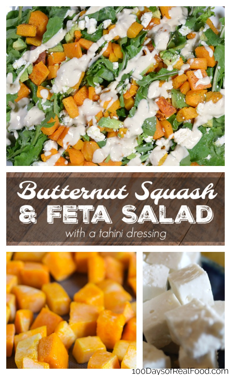 Easy Butternut Squash Salad with Feta