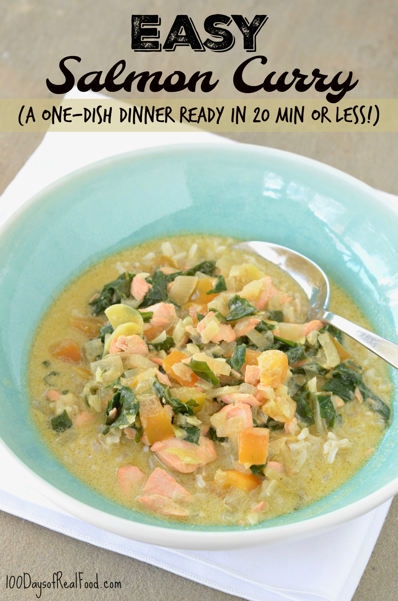 Easy Salmon Curry on 100 Days of Real Food