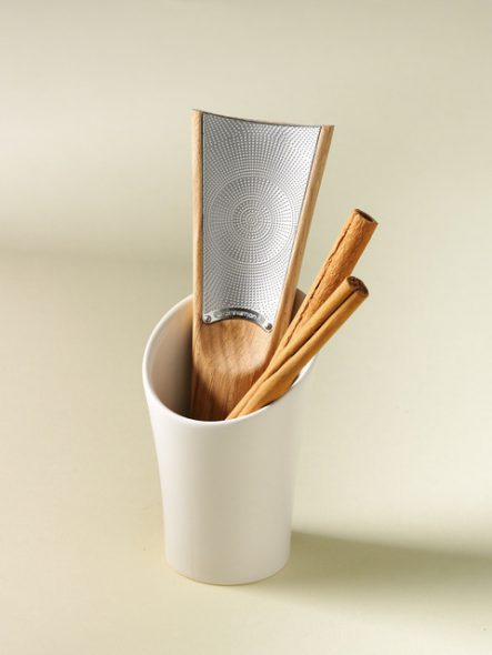Cinnamon Grater displayed with sticks