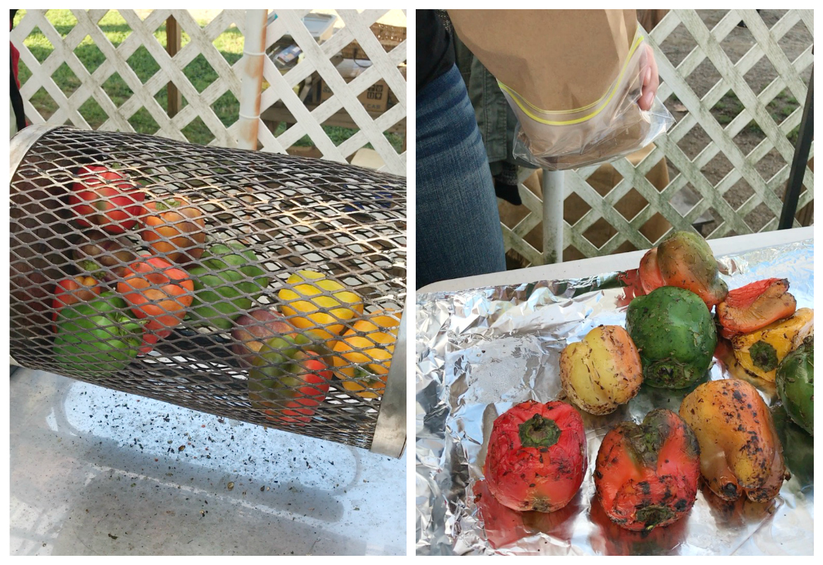 Roasted Bell Peppers at Farmers' Market