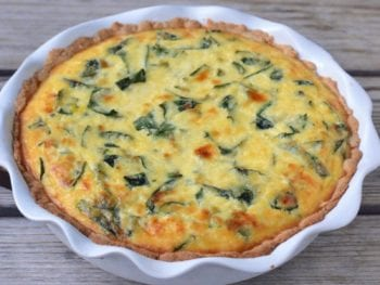 Ricotta and Kale Quiche 2