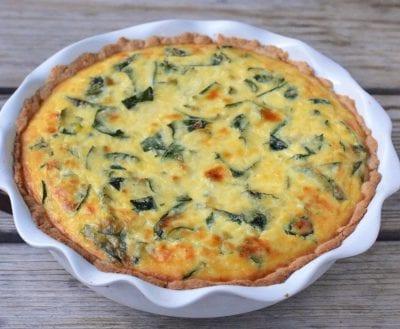 Ricotta and Kale Quiche 2