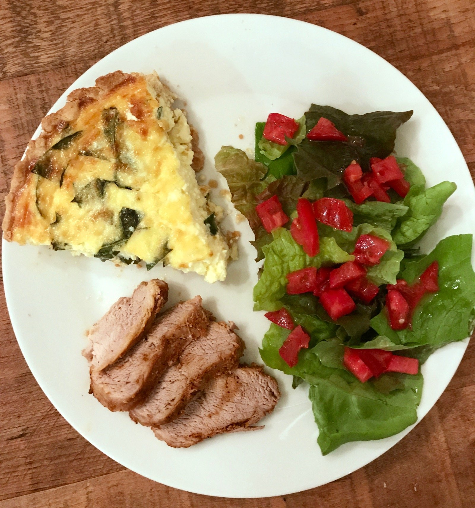 Cheesy Kale Quiche as a side dish