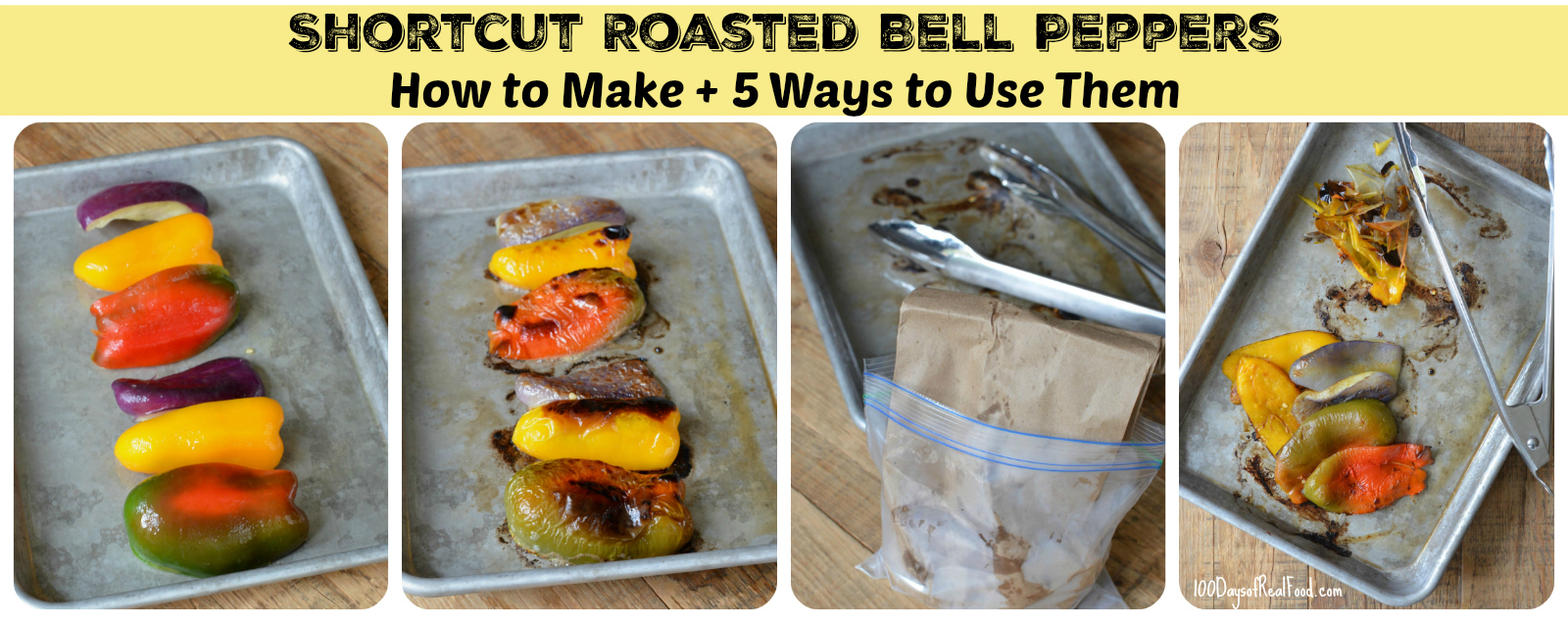 5 ways to use roasted bell peppers collage