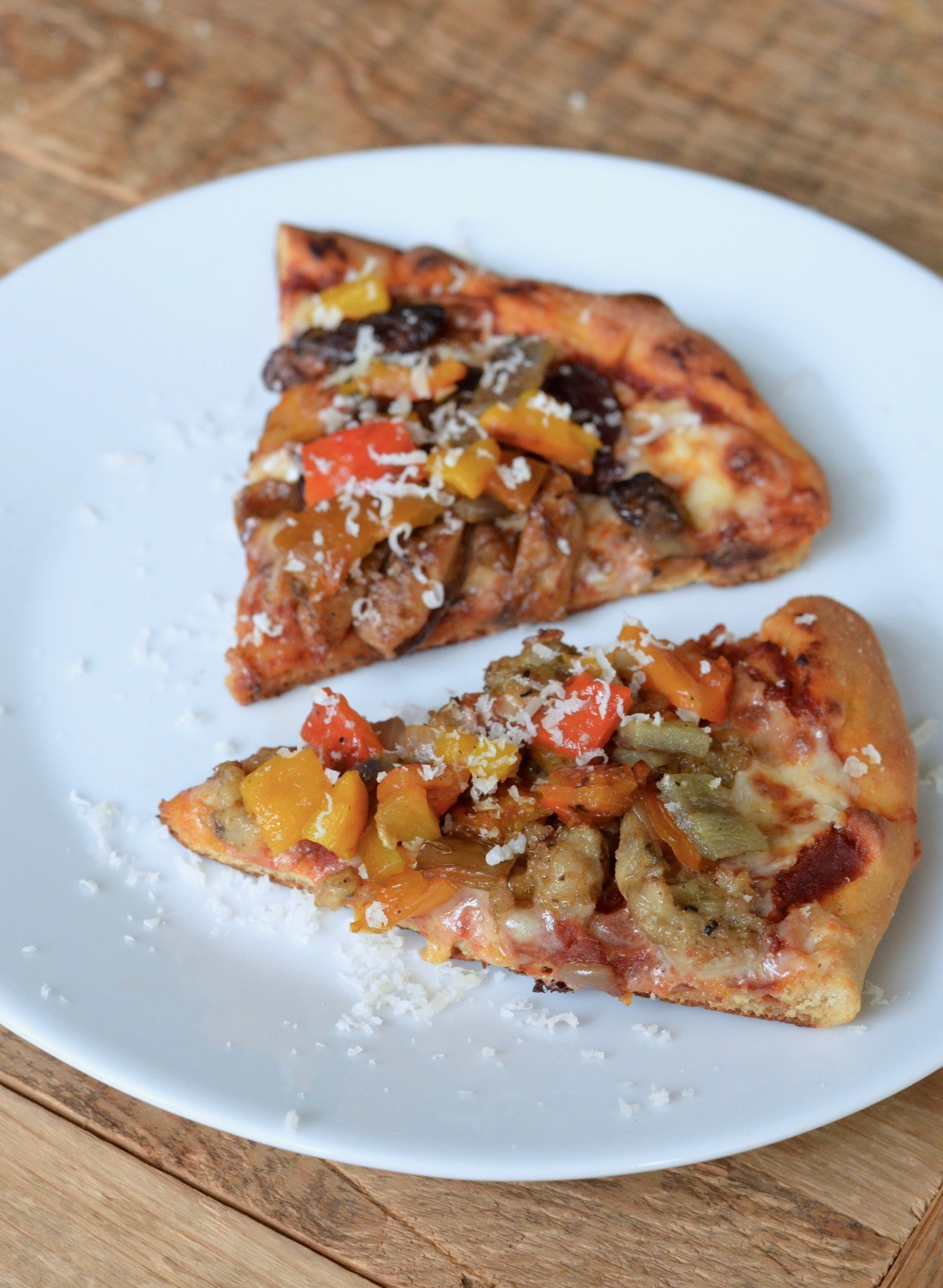 Roasted Bell Peppers diced and added to pizza topping