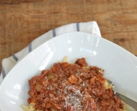 Bolognese Sauce on 100 Days of Real Food